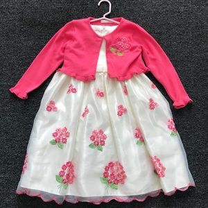 American Princess Embroidered Dress with Sweater